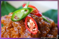 Babi Ketjap (kecap) is a typical dish in Indonesia where pork, either legs, belly or steak, is simmered in a sweet soy sauce.