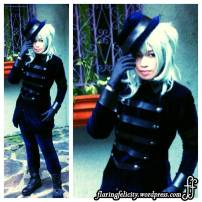 """Cosplayer is very much """"in character"""". Been observing him alot and how he projects for the camera . Wait, is he a she?"""