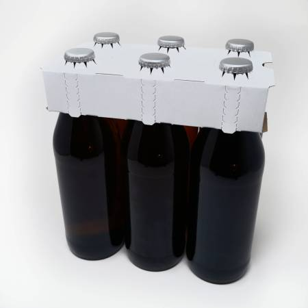 6er Aufsteckträger unbedruckt 0,5 Liter Euroflasche