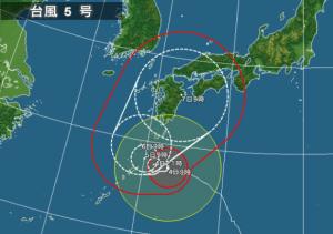 81台風5号