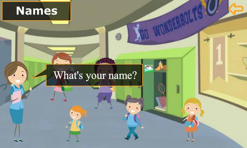 انجليزي الصف الأول-What is your name