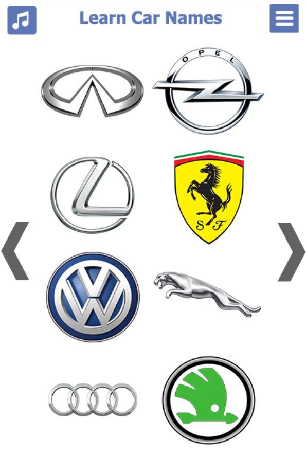 انواع السيارات بالانجليزي