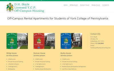 Flash Avenue launches website for D.H. Boyle Licensed Y.C.P. Off-Campus Housing