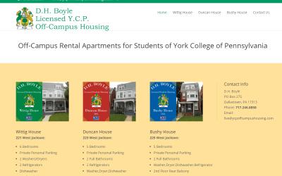 Flash Avenue launches website for D.H. Boyle Licensed Y.C.P. Off-Campus Housing
