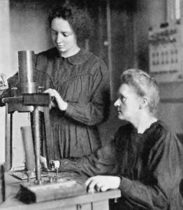 Irene and Marie Curie, 1925