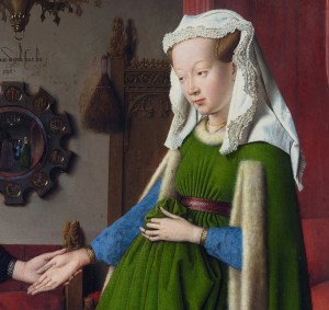 Detail from 'Portrait of Giovanni Arnolfini and his Wife' by Jan van Eyck (1434)