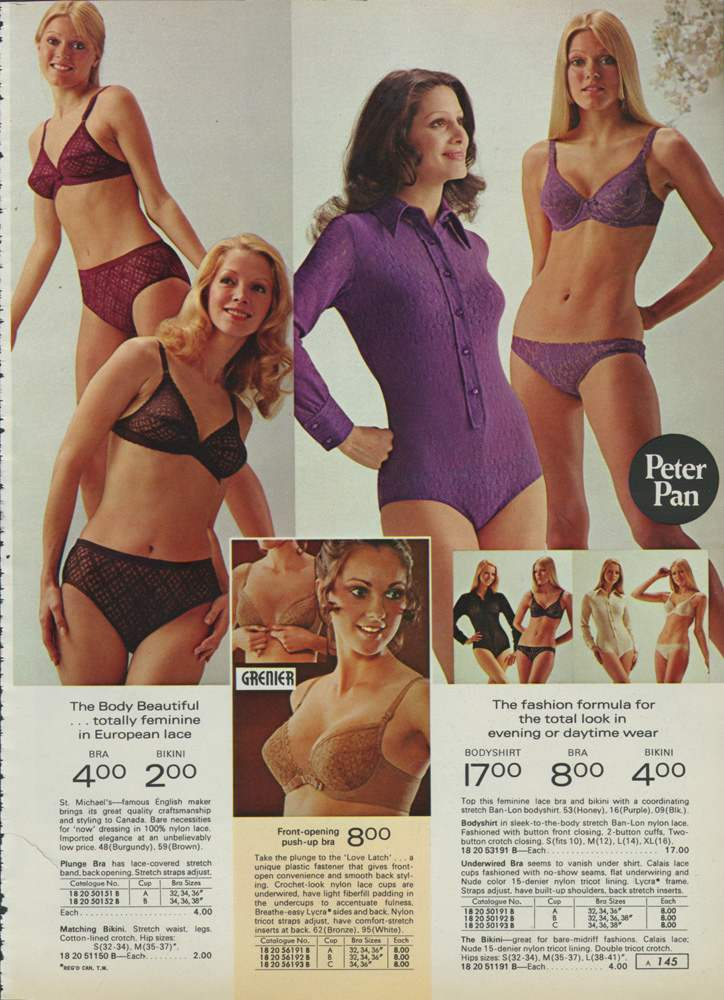 1970s Sears Catalog Girls Underwear