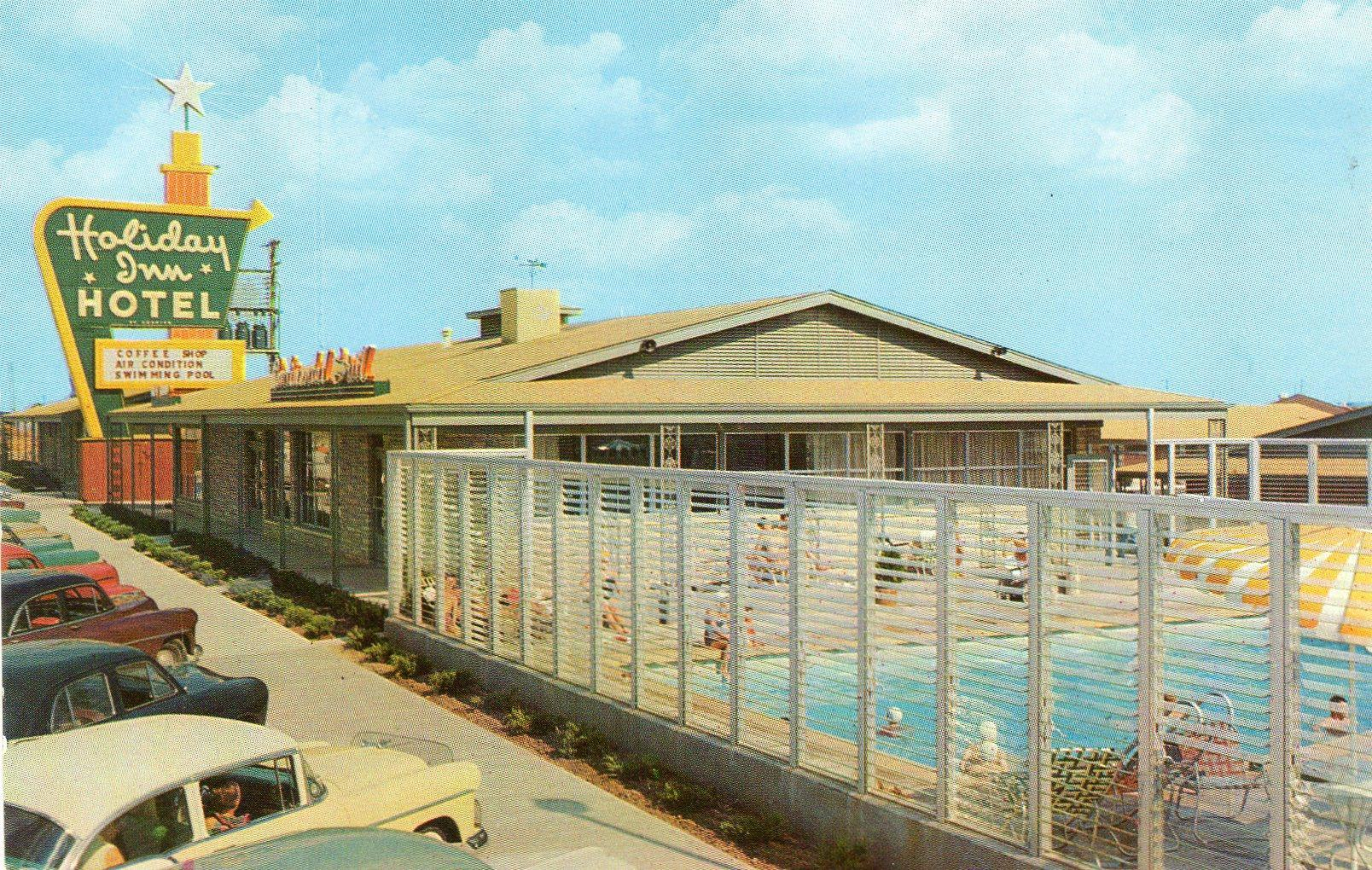 Twenty Humdrum Holiday Inn Postcards From The Fifties And