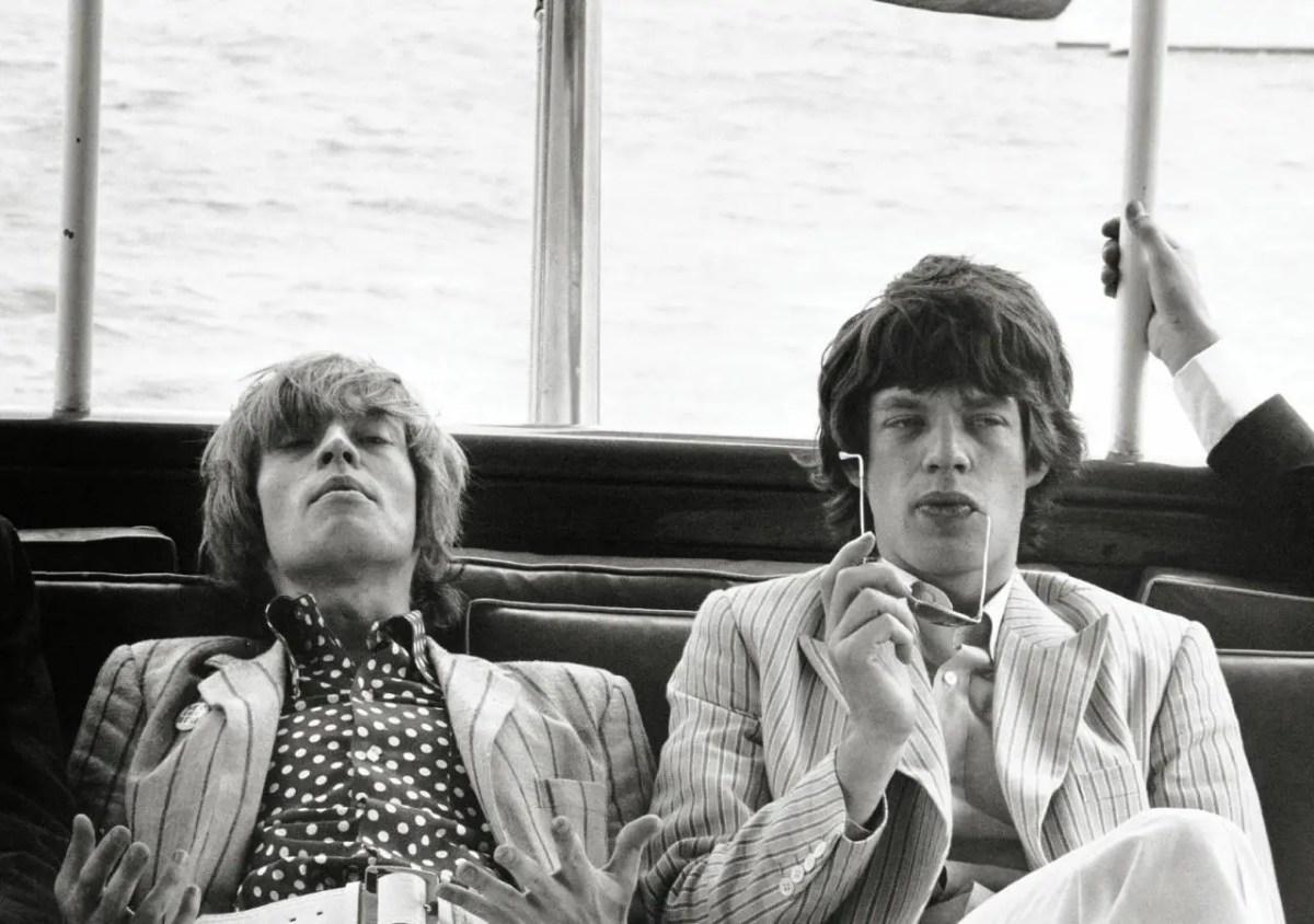 Brian Jones and Mick Jagger New York 1966