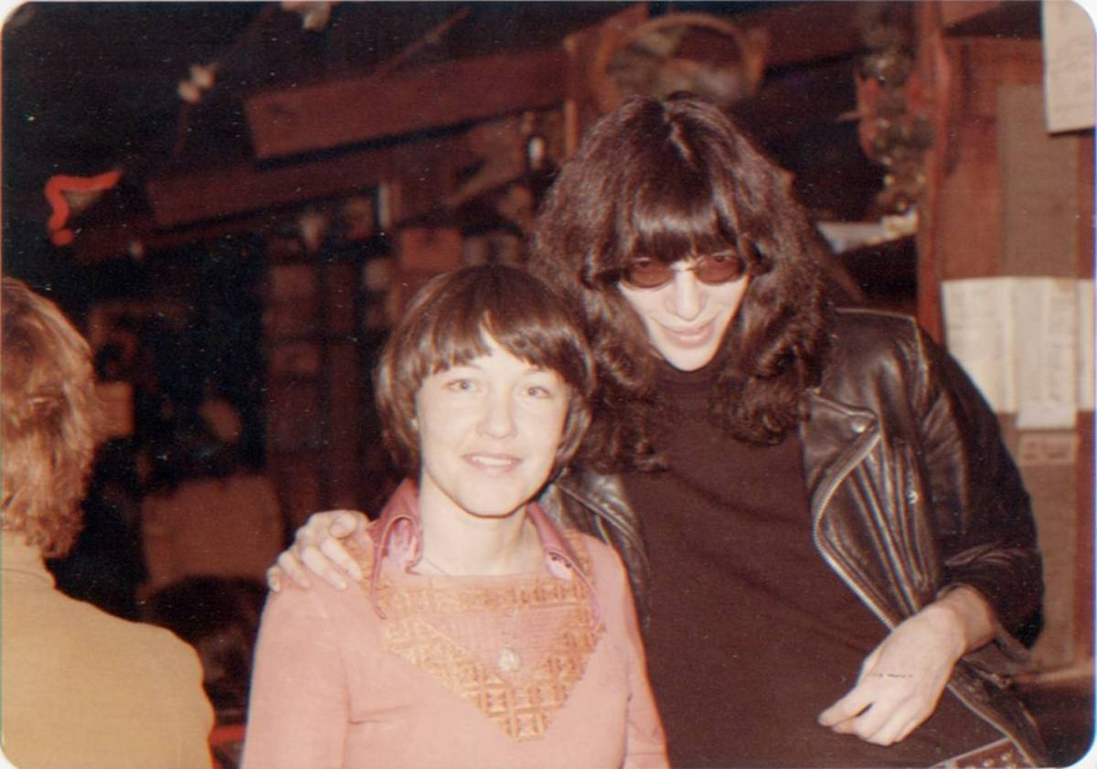 """Joey Ramone was really a sweetie pie. At one point we had an exhibit of our photographs, and we made a whole board of pictures of Joey Ramone and me, which we'd sell for $1. Joey came and signed a whole bunch of those photos."""