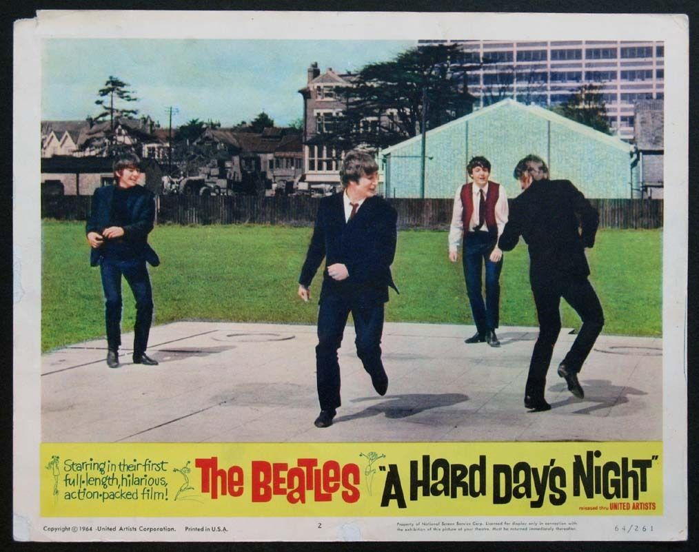 Lobby Cards And Ephemera From The Beatles Film A Hard