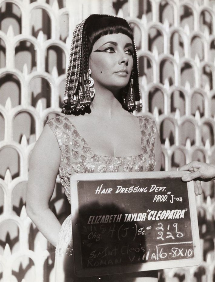elizabeth taylor cleopatra hair dressing department