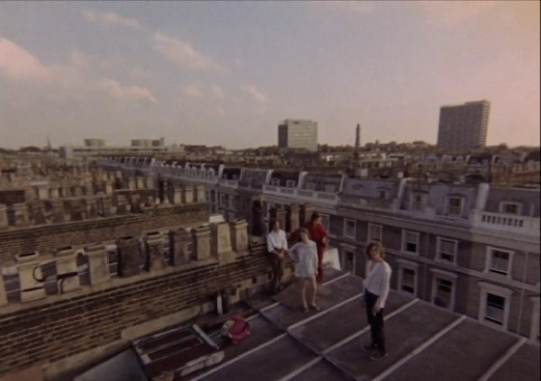 Group overlooking the roofs of Notting Hill at sunset