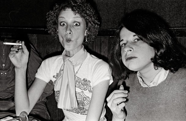 Model Donna Jordan and writer Fran Lebowitz. Photograph by Anton Perich