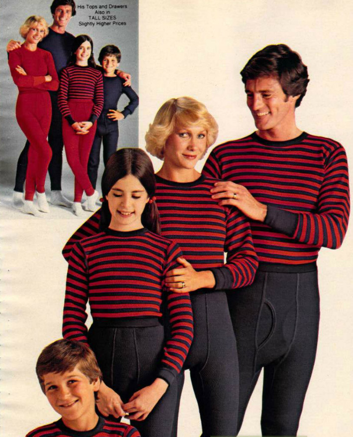 Vintage Christmas Cringe Families In Matching Holiday