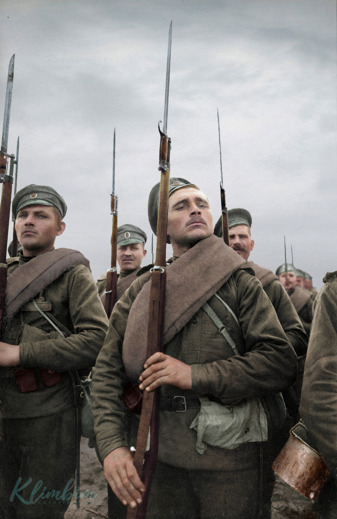 Captivating Colorized Portraits Of Russian Fighters In