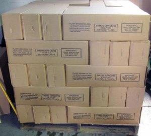 Flash Bridge Truss Spacers are packed 20 per carton, & 60 cartons per skid.
