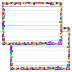Multicolour Confetti Leitner flashcards A7 size