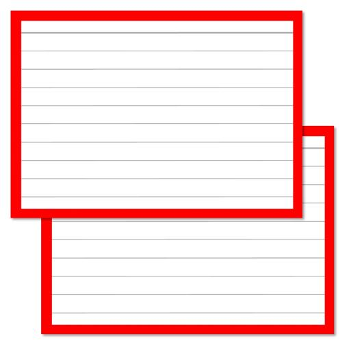 Red Leitner Flashcards A7