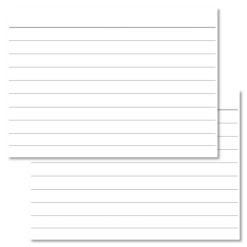 Lined white Leitner flashcards A7 size