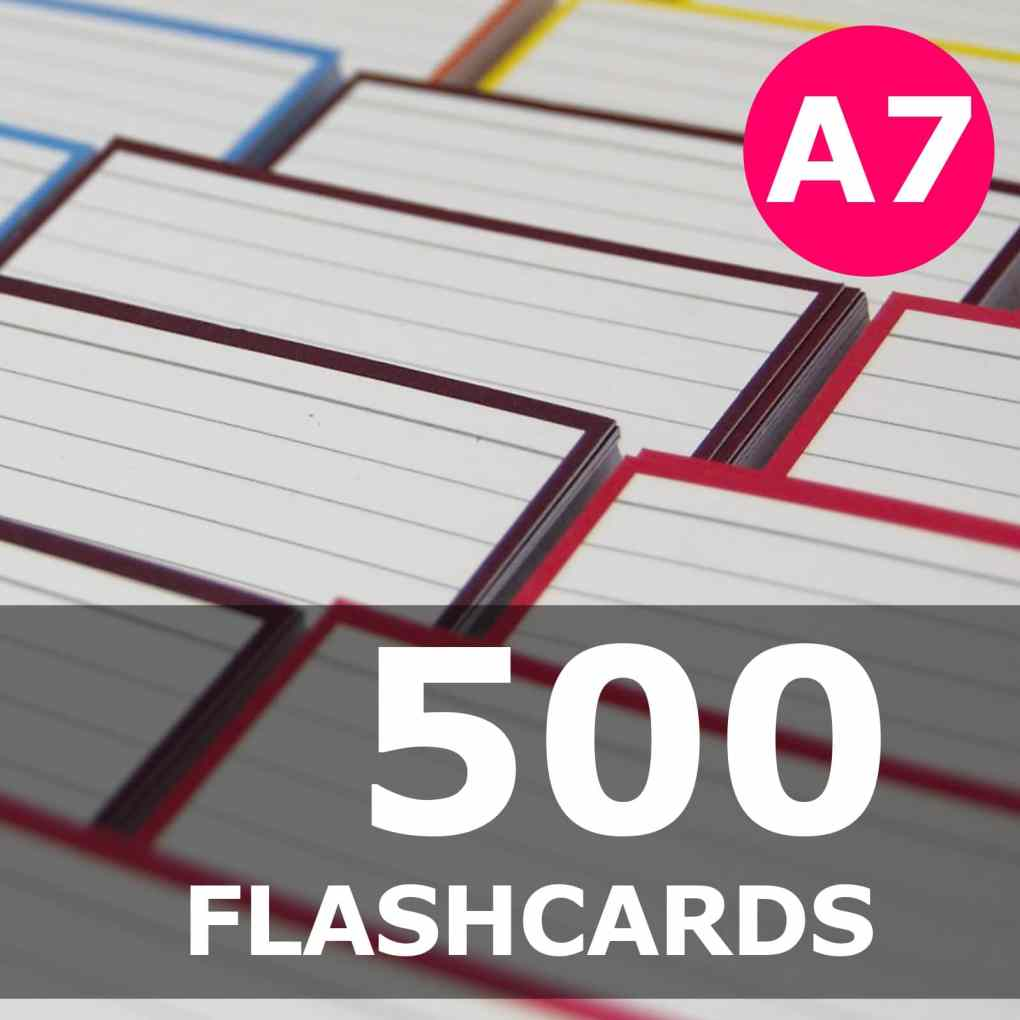 Create your bundle - A7 flashcards