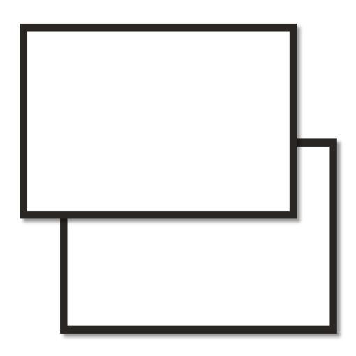 A6 flashcards blank with a black border