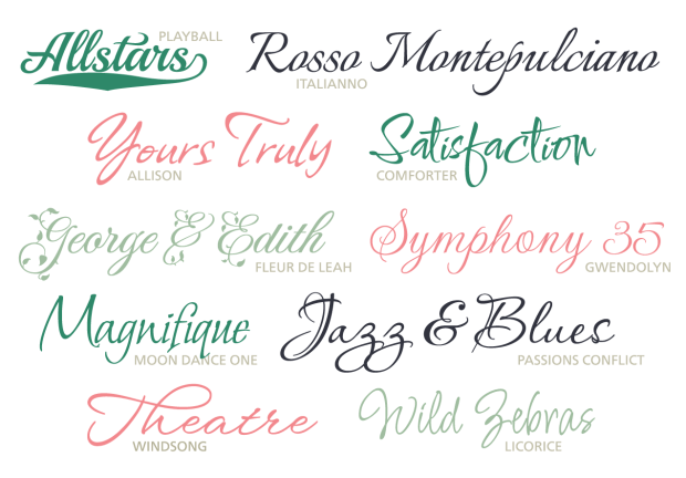 new script fonts