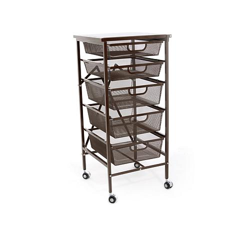 Origami 5 Drawer Kitchen Cart With Wooden Top Deal Flash Deal Finder