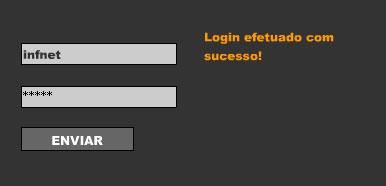 Imagem do Formulário de Login em Flash + XML