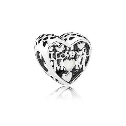 PANDORA - Charm I love you Mom (Mãe, eu amo você) R$ 155,00