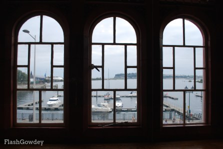 View of Cardiff Bay from an Office Window in Pierhead Building