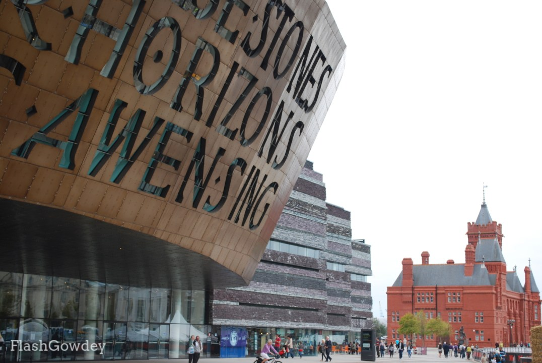 The Millennium Centre with the Pierhead Building in the distance