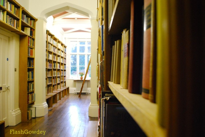 Library, Gregynog Hall, Wales (October 2014)