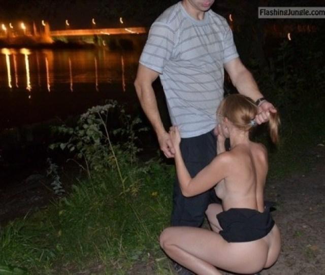 Slut Wife Riverbank Public Blowjob