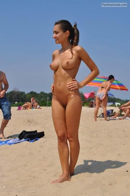 tumblr beach flashing