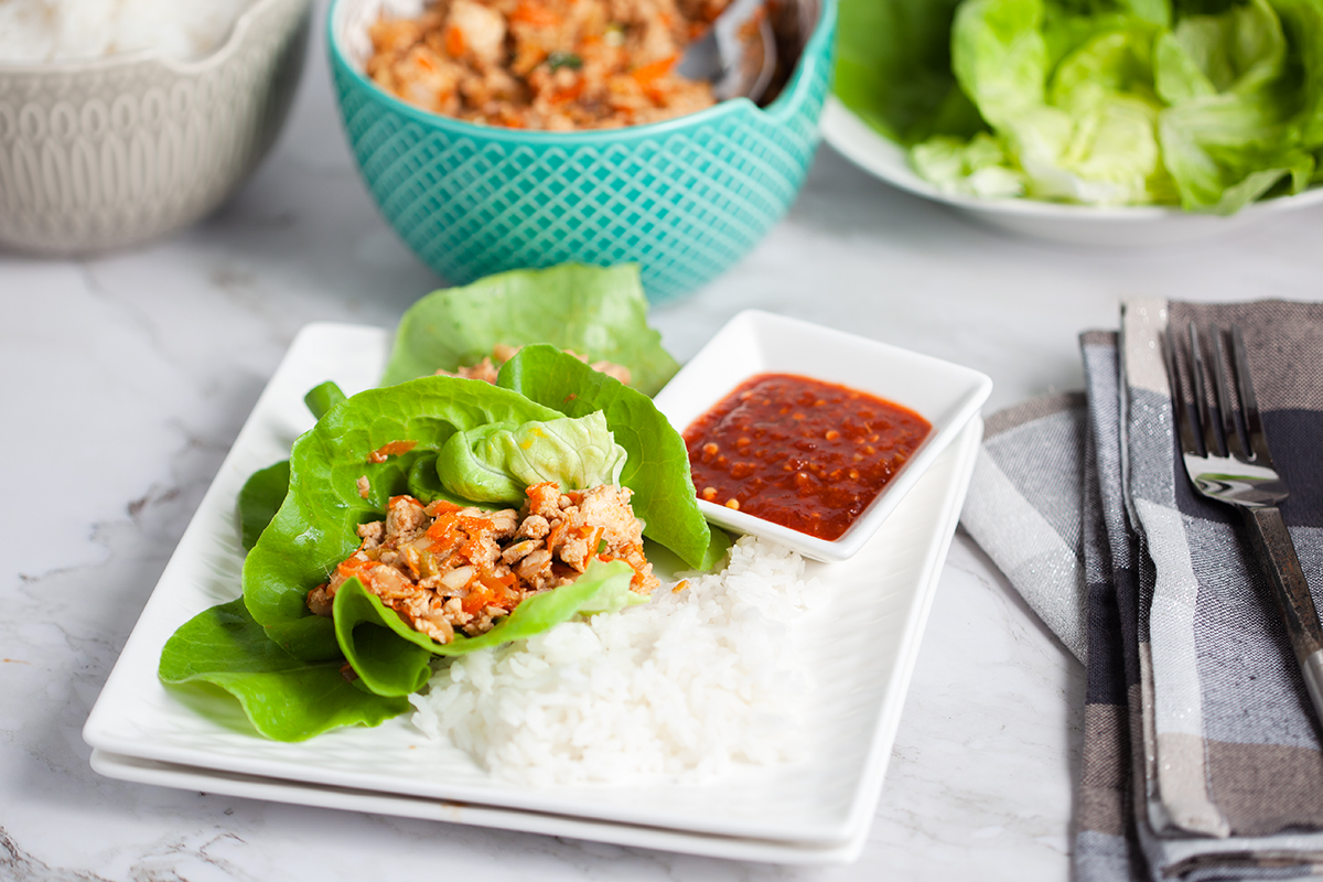 plate of coypcat pf chang lettuce wraps