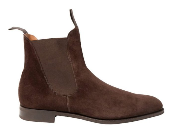 bottines chelsea cuir marron botte homme