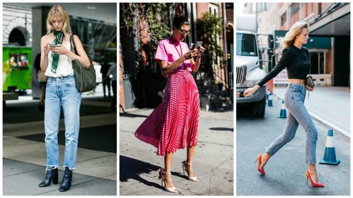3 looks street style new york tendance printemps-été 2017