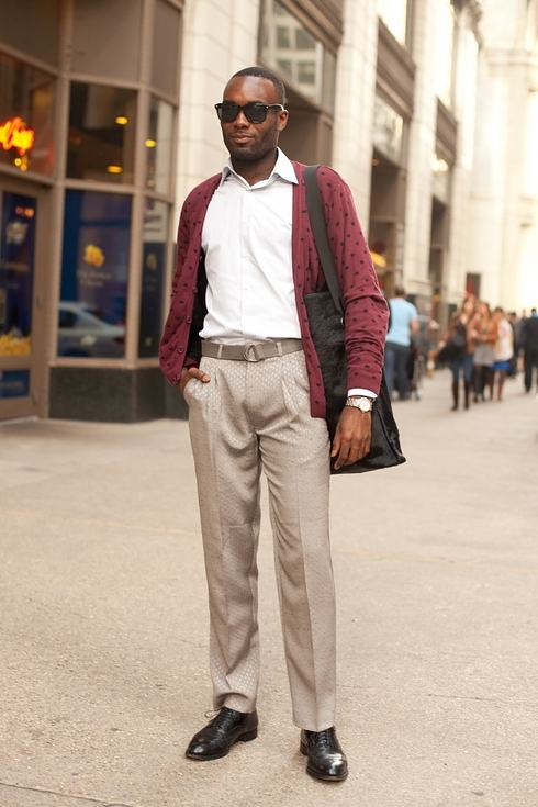 Street style pour hommes a Chicago