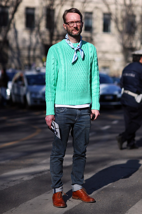Street style pour hommes a Milan