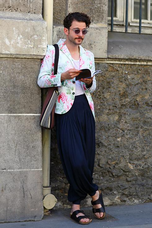 Street style pour hommes a Paris