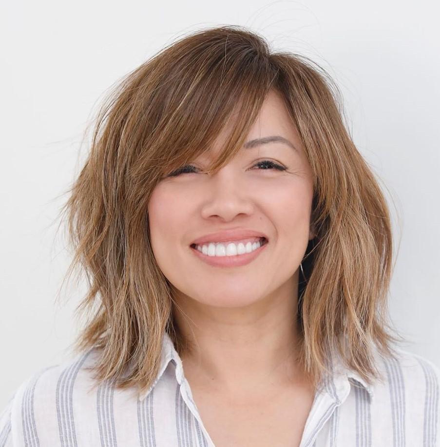 50 coupes de cheveux et coiffures à la mode avec une frange en 2020