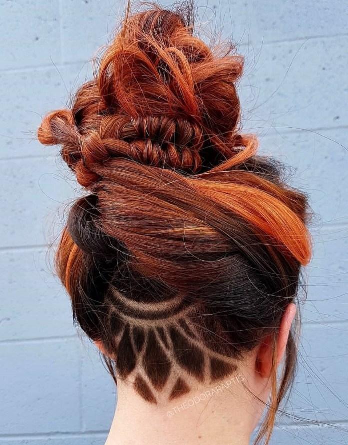 Coiffure de nuque pour cheveux longs