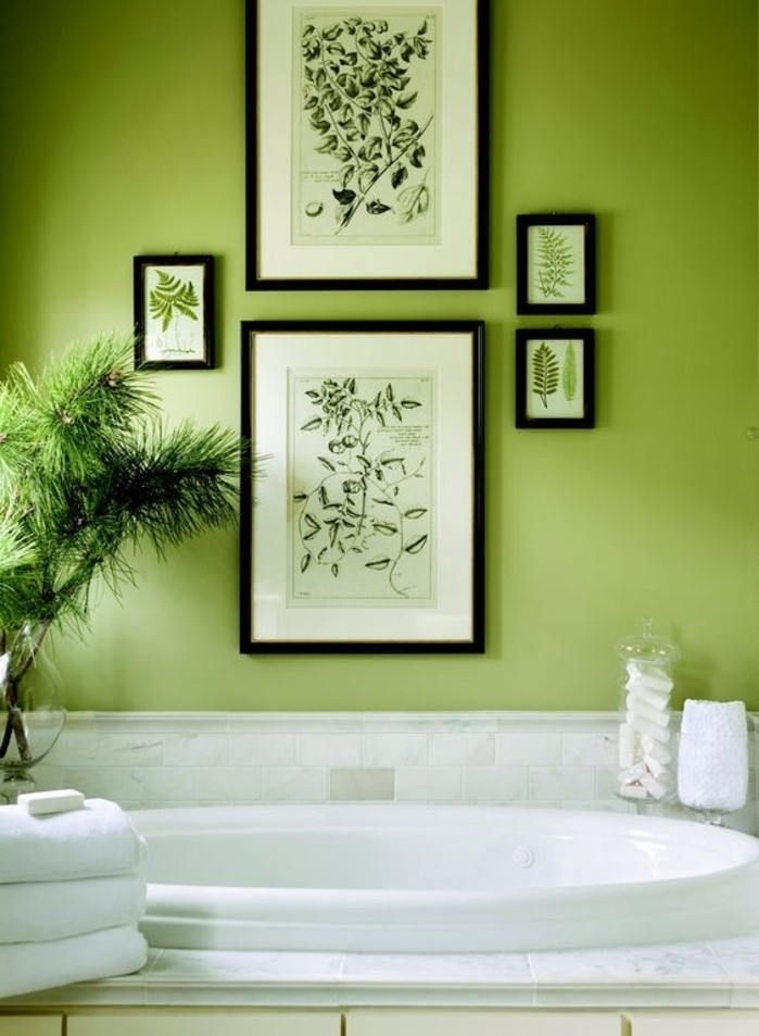 Salle De Bain Couleur Vert D Eau Latest Chambre Bicolore