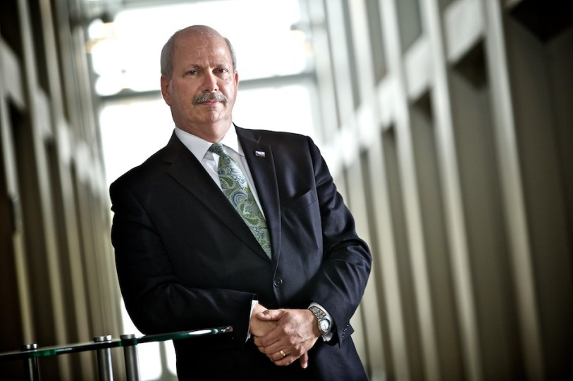 Tom Ledbetter, Associate Vice President of the Enterprise Campus at Midlands Technical College, photographed in the Accelerator Building.