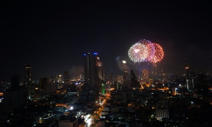 Fireworks from the 30th floor!
