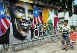 Obama graffiti (STOCK PHOTO)