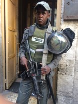 Military soldier present in the Old City