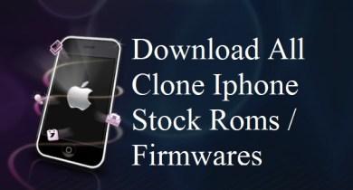 iPhone Clone Stock ROM Firmware