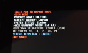fixed –  Could not do normal boot odin mode